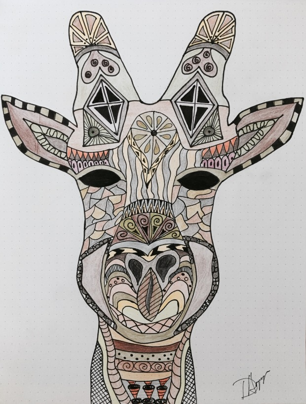 giraffe-zentangle